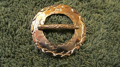 """Eastern Woodlands German Silver  Small Washer Brooch Pin 1/"""" Round   26 ga."""