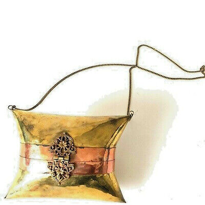 India Pillow Purse Brass/Copper Shoulder Chain Vintage, But Virgin Original Tag