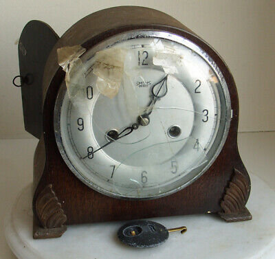 SMITHS ENFIELD CLOCK 1930s  Mantel Carriage Brown ART DECO Vintage
