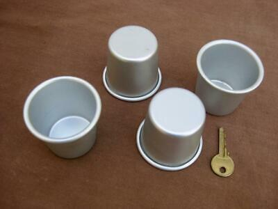 4 dariol moulds Individual madeleine or pudding tins 120 ml  Excellent condition