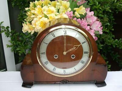 Superb Smiths 8 Day Striking Mantel Clock. Walnut Case. 1955. Fully Overhauled.