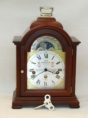 Kieninger Sewills Mahogany 3 Tune Triple Chime + Moonphase Mantle Bracket Clock