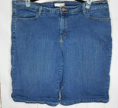 e8848031 Womens Plus Size 24W Denim Shorts Levi's Perfectly Shaping 512 Blue 4  Pockets