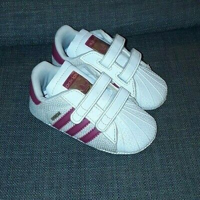 big sale 632b1 fdc3c Adidas Originals Superstar Crib Shoes Baby Infant Girls Trainers S79917  size 3K