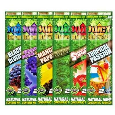 **BUY 2 GET 1 FREE** Juicy Jay Hemp Blunts - 4 Pack Deal - 2 x Single Packs