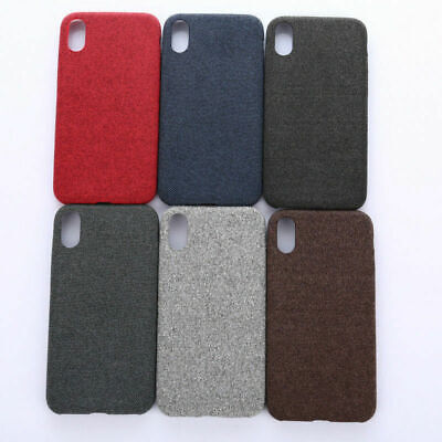 For iPhone XS Max XR X 6s 7 8 Plus Warm Fabric Soft Shockproof Matte Case JC1