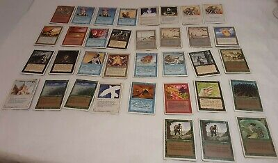Lot of (35) Magic the gathering cards revised/unlimited Heavily played / damaged