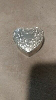 Beautiful New Old Stock Vintage Silver Plated Trinket Box