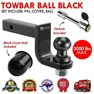50mm Towbar Tow Bar Ball Mount Tongue Hitch Trailer Caravan Towing Part 5000LBS