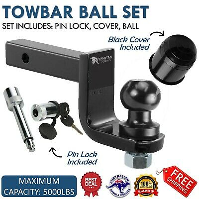 50mm 2 Inch Tow Bar Ball Mount Tongue Hitch Pin & Ball 4WD Hayman Reese