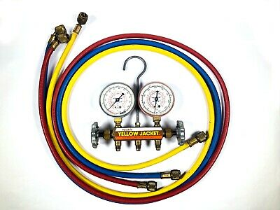 Ritchie Yellow Jacket Test Charging Manifold Set 60 Inch Hoses R-12 R-22