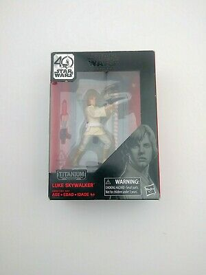 STAR WARS The Black Series Luke Skywalker Titanium Series Figurine