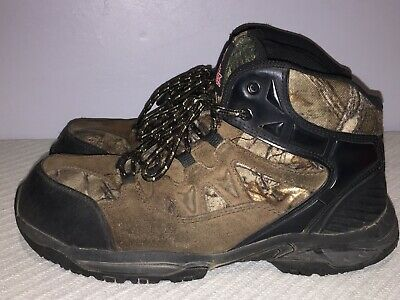 0f6d27ec984 BRAHMA MEN'S LACE up Steel Toe work boots Size 10.5 Brown and Black ...