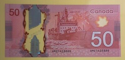 $50 Dollar Lucky 888 Chinese Number Bill Note Canadian New Mint 50 UNC Canada