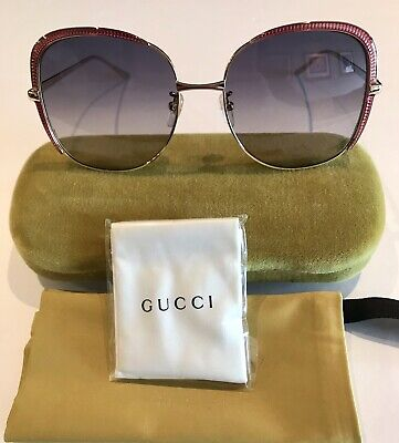 2f539e702a Gucci sunglasses Women s GG0400S Oversized Square New 100% Auth Made In  Japan