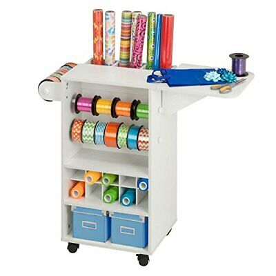 Honey-Can-Do CRT-06343 Rolling Craft Storage Cart with Fabric Drawer, White