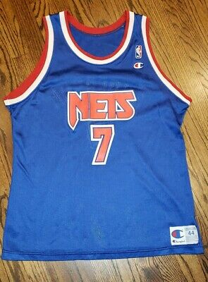 cd8f3b30c Vintage 1990s Kenny Anderson  7 New Jersey Nets Champion Jersey Size 44 L