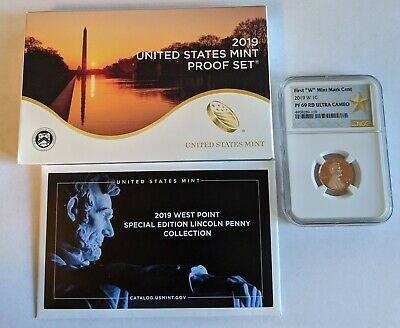 2019 S US Mint Proof Set -11 Coins - w/ NGC Lincoln W Shield Cent Penny PF69 UC