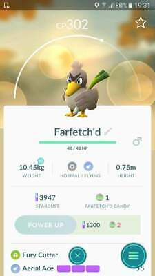 Pokemon Go Farfetch'd Trade Regional Pokédex Entry #83 (Buy 2 Get 1 FREE)!