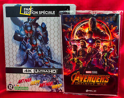 Ant-man and the Wasp FNAC Steelbook (4K UHD/Blu-Ray) + Infinity Wars Art Cards