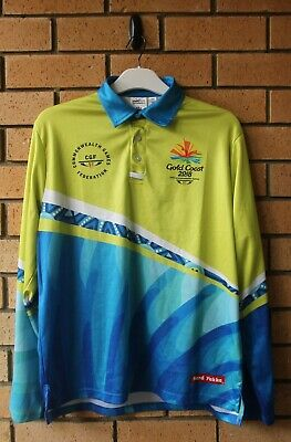 Commonwealth Games Gold Coast 2018 Long Sleeve Hard Yakka Volunteer Shirt Large