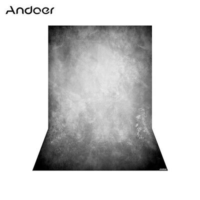Andoer 1.5 * 2.1m/5 * 7ft Photography Background Grey Retro Wall Backdrop Y1R8