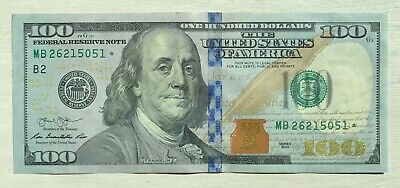 $100 Star Note Rare 100 Bill Note USA 2013 American Uncirculated Mint UNC New