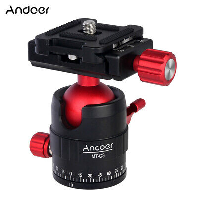 Andoer MT-C3 Compact Size Panoramic Tripod Ball Head Adapter 360° Rotation H3X1