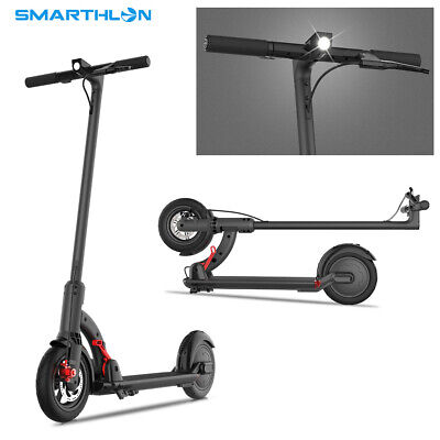 480W Smarthlon Folding Electric Scooter E-Scooter Black Up to 30km/h 480W