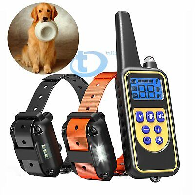 875 Yards Rechargeable Remote Control Waterproof Dog Training Electric Collar