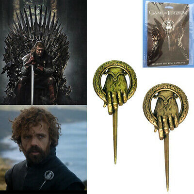 Game of Thrones Hand of The King Metal Alloy Brooch Pin Badge Costume Size 7.5cm