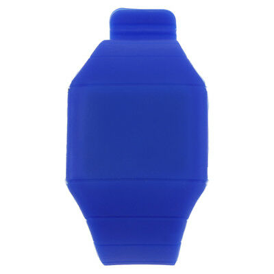 Unisex Touch Screen Digital LED Silicone Sports Wrist Watch New Blue B1L3
