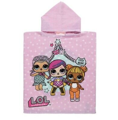 LOL SURPRISE HOODED PONCHO TOWEL NEW Child Holiday Swim