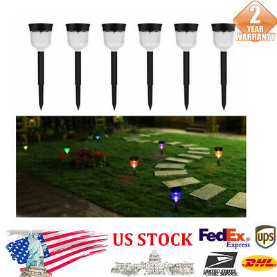 6Pcs Solar Torch LED Lights Decorating Lamp 7 Colors Changing Walkway Lights New