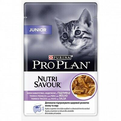 Alimento Húmedo Completo PURINA PRO PLAN JUNIOR PAVO para Gatos Junior