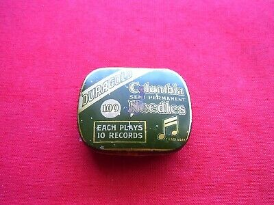 Vintage Columbia Gramaphone Needles Tin, With Needles. Semi Permanent
