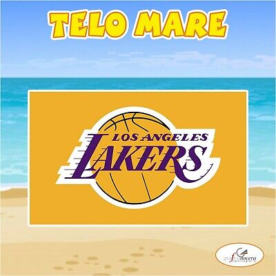 Asciugamano Telo Mare in spugna Los Angeles Lakers NBA idea regalo estate