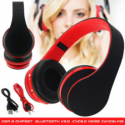 Foldable Wireless Bluetooth Over-Ear Stereo Headphones Sport Headset Microphone