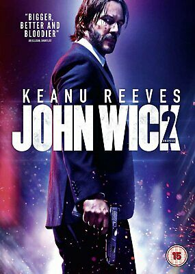 John Wick Chapter 2 DVD Keanu Reeves Movie Film UK Release Brand New R2 2nd Part