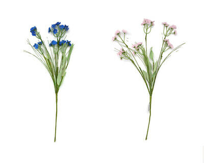 Artificial Meadow Flower Spray x 45cm - Wildflower - Pink or Blue