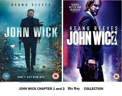 John Wick Chapter 1 and 2 Blu Ray Original UK Rel New R2 1st 2nd Part Movie Film