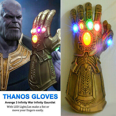 Avengers Infinity War Infinity Gauntlet LED Light Thanos Gloves Cosplay Prop AU