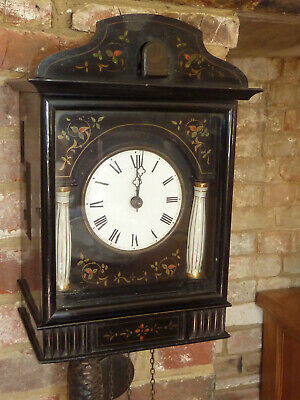 Vintage/ Arts and Crafts Cookoo Clock. Porcelain Dial And Pillars