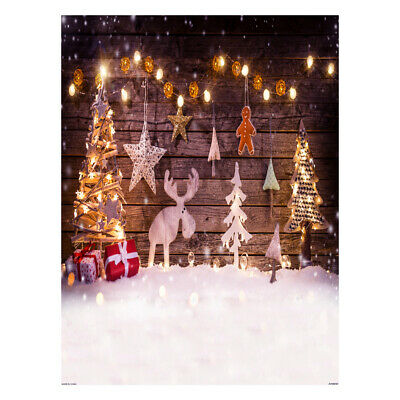 Andoer 1.5*2 meters / 5*7 feet Christmas Holiday Theme Background Photo H9Y4