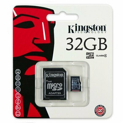 Kingston 32GB Class 4 Micro SD SDHC Flash Memory Card 32 GB Retail