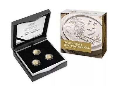 Australia 2018 30th Anniversary of Three $2 Coins Proof Set