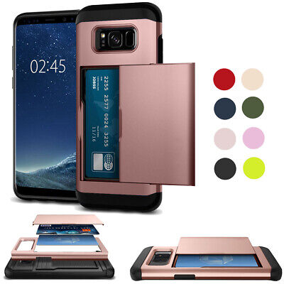 Shockproof Card Holder Armor Slide Phone Case Cover For Samsung Galaxy S8 US
