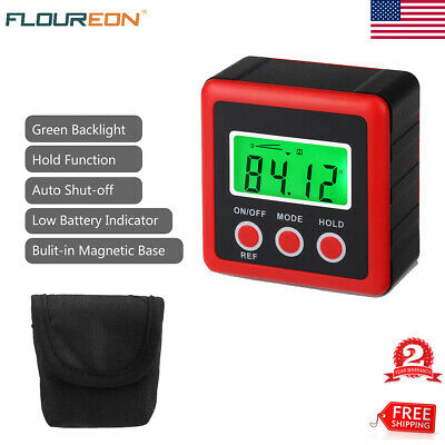 0-360°LCD Digital Inclinometer Level Box Protractor Angle Finder Gauge Magnet US