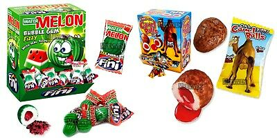 Fini Watermelon Liquid Filled Bubblegum Retro Sweets & Candy 50/100/200 Pieces