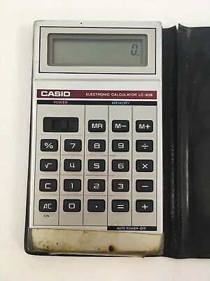 Vintage Casio Electronic Calculator LC-828 Retro